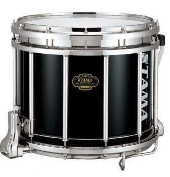 "Tama Bubinga Marching Snaredrum 14""x12""  Farbe:Piano Black"